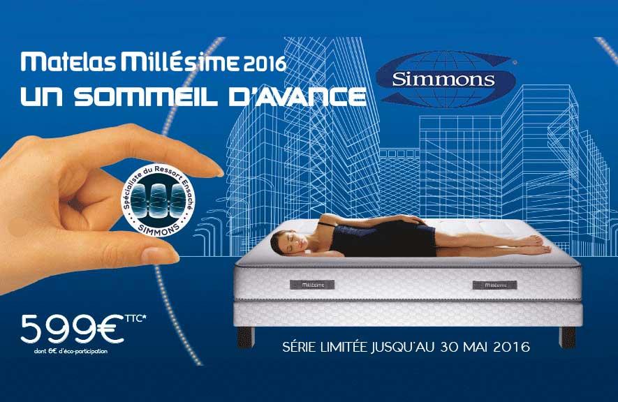 Matelas Simmons Millesime 2106