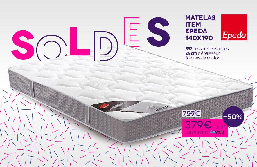 Soldes Matelas Item Epeda Janvier 2017