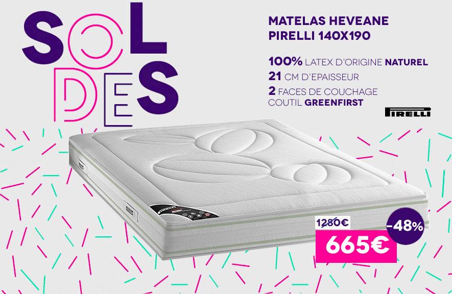 Matelas Heveane Pirelli Soldes