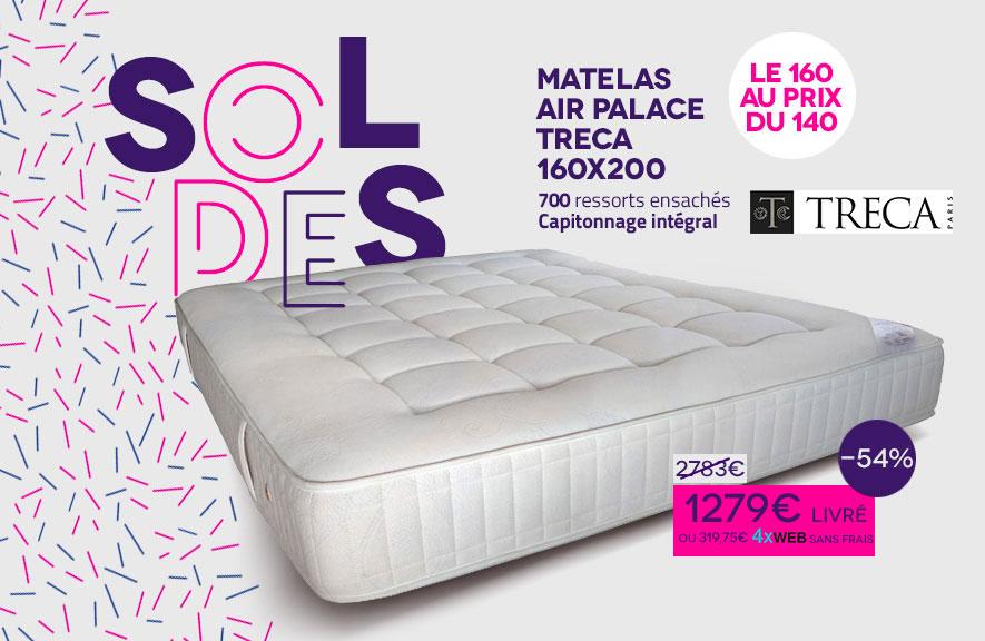 Soldes Matelas Air Palace 4 x sans frais