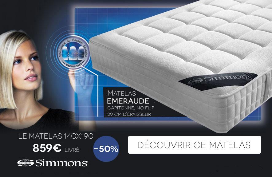 Matelas Emeraude Simmons -50%
