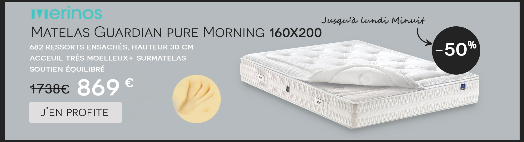 Matelas Guardian Pure Morning Merinos 160x200