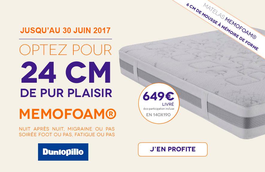Matelas Memofoam Dunlopillo 140x190