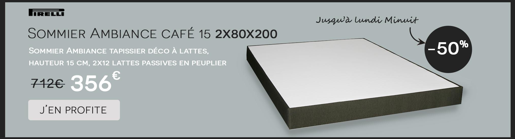 Sommier ambiance Pirelli 2x80x200