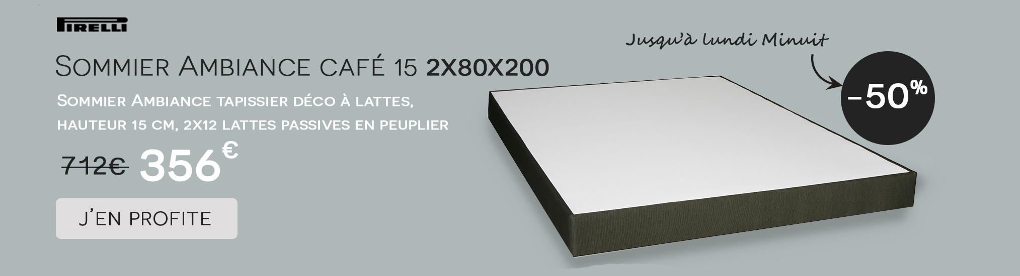 Sommier ambiance 15 Pirelli 2x80x200