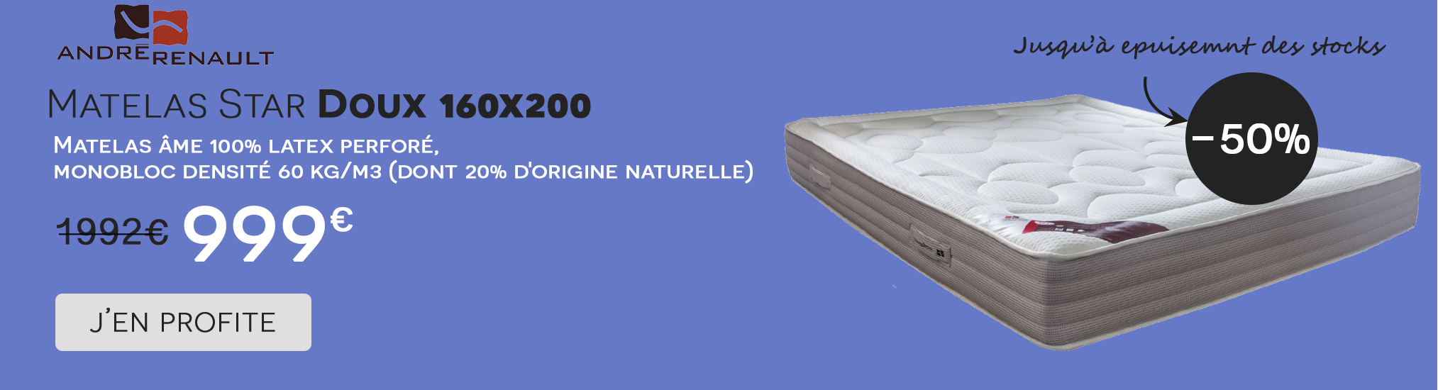 Vente Flash Star Doux Andre Renault 160x200