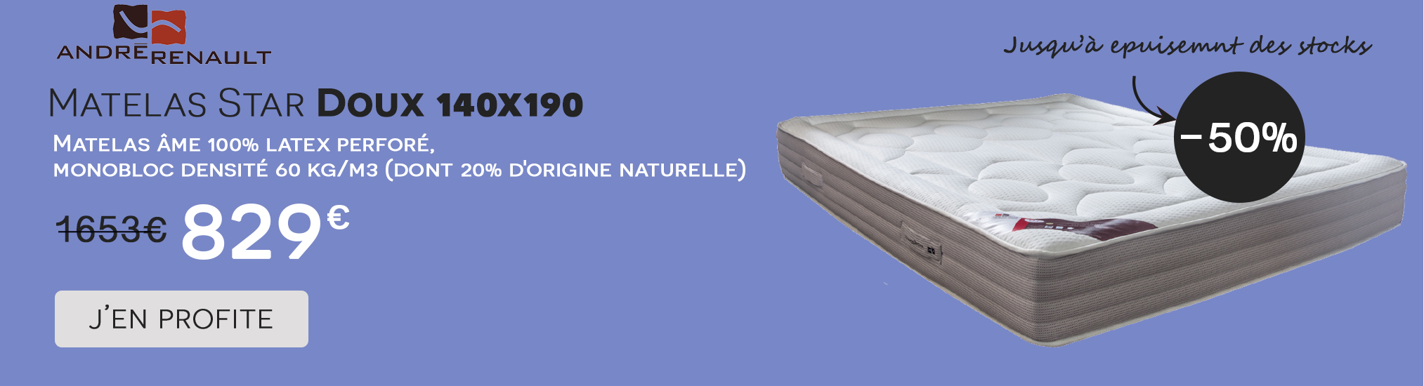 Vente Flash Star Doux Andre Renault 140x190