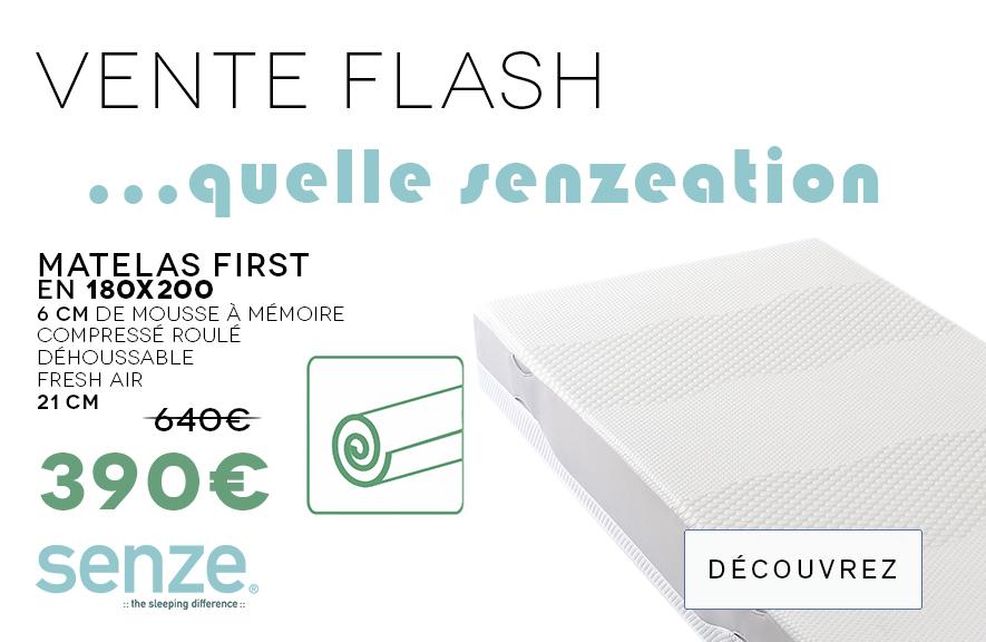 Vente Flash Matelas Senze First 180
