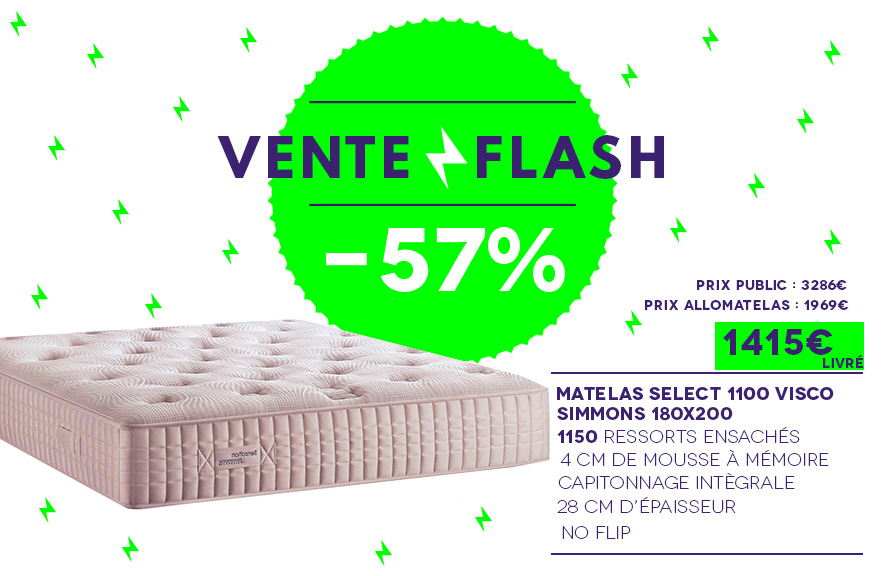Vente Flash Matelas Sensation Select 1100 Visco