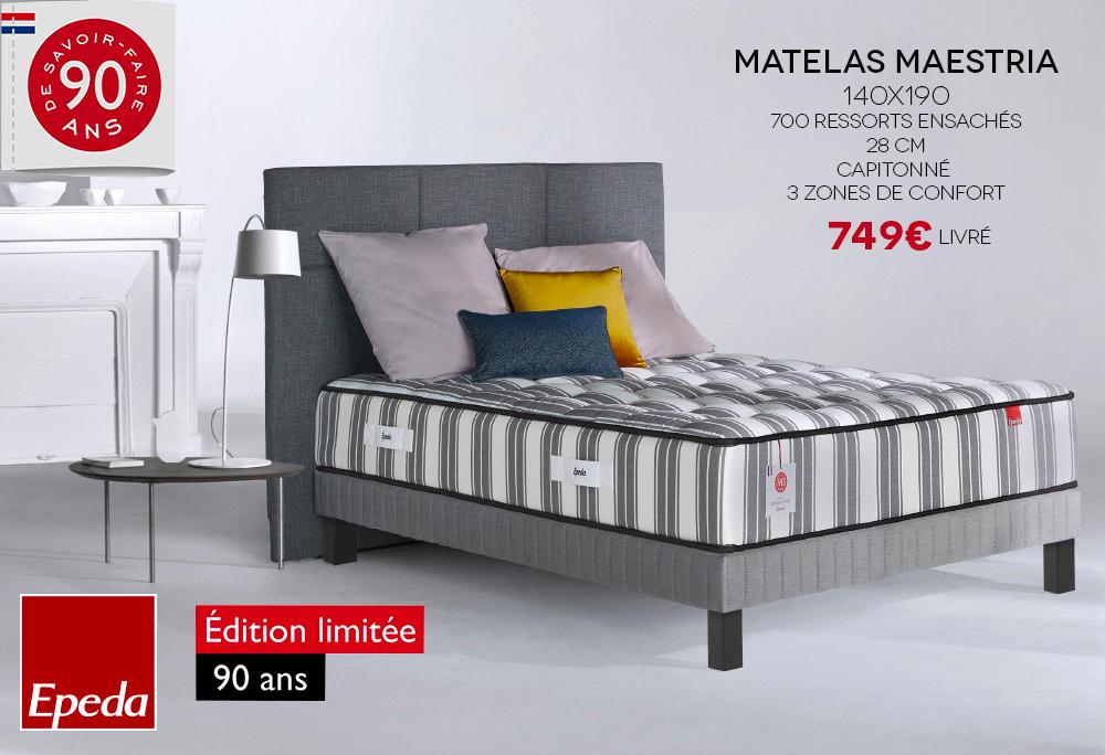Matelas Maestria Epeda 90 Ans
