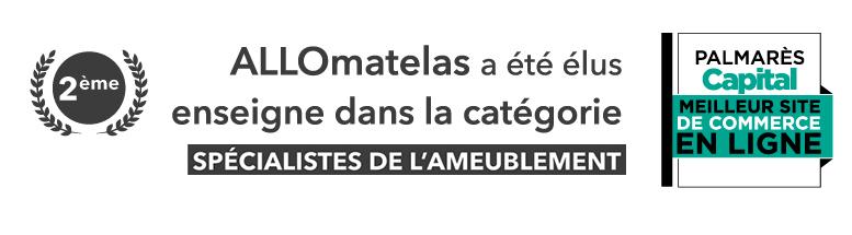 <strong>ALLOmatelas élu 2 ème</strong> Site e-commerce