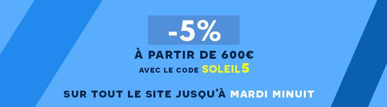 <strong>-5%</strong> sur tout le site*