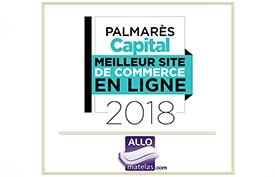 Palmarès CAPITAL 2018  ALLOmatelas à été élu 2 ème