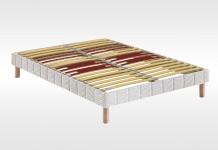 Sommiers Lattes Bultex CONFORT FERME MORPHO 5 ZONES + PIEDS INTEGRES 90x190 (1 pers)