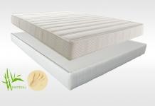 Matelas Mémoire de forme Sommiers Lovely Bed NATURE FORME DORSOLAT 140x190 (2 pers)