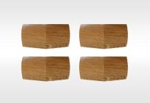 Pieds Dunlopillo PIEDS D ANGLE VERNIS 10 cm