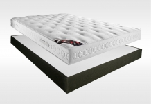 Matelas Latex Sommiers Dunlopillo CASSANDRE AMBIANCE 15 CAFE 140x190 (2 pers)
