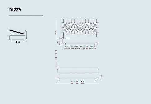 Lits Coffres Déco ALLOmatelas DIZZY  140x190 (2 pers)