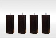 Pieds ALLOmatelas PIEDS CARRE WENGUE 15 CM 15 cm