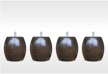 Pieds ALLOmatelas PIEDS NOYER OLIVE 9.5 CM 9,5 cm