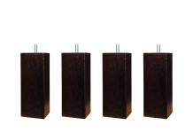 Pieds ALLOmatelas PIEDS WENGUE CARRE 15 CM 15 cm