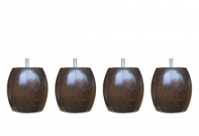 Pieds ALLOmatelas PIEDS NOYER BOULE M 9.5 CM 9,5 cm