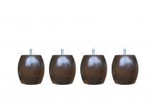 Pieds ALLOmatelas PIEDS NOYER BOULE M 7.5 CM 7,5 cm
