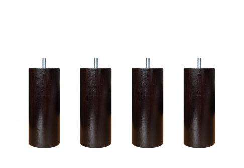 Pieds ALLOmatelas PIEDS WENGE 15 CM CYLINDRE  15 cm