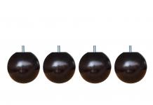 Pieds de lit ALLOmatelas PIEDS BOULE WENGE 9 CM 9 cm