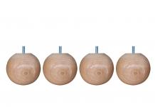Pieds de lit ALLOmatelas PIEDS BOULE HETRE 9 CM 9 cm
