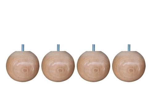 Pieds ALLOmatelas PIEDS BOULE HETRE 9 CM  9 cm