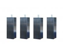 Pieds ALLOmatelas PIEDS CARRES INOX 15 CM 15 cm