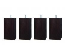 Pieds ALLOmatelas PIEDS PACHA WENGE 15 CM 15 cm