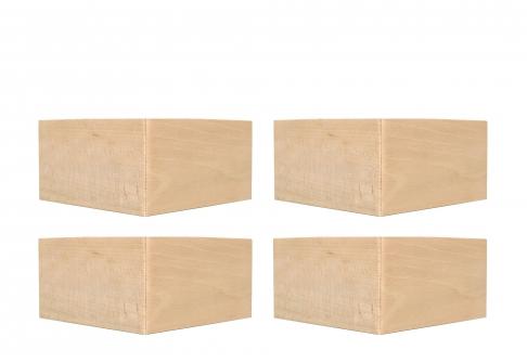 Pieds Dunlopillo PIEDS D'ANGLE VERNIS 8 CM  8 cm