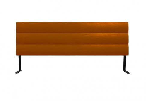 Tête de lit Bultex Tête de lit 3 BARRES BOMBEES  160 cm