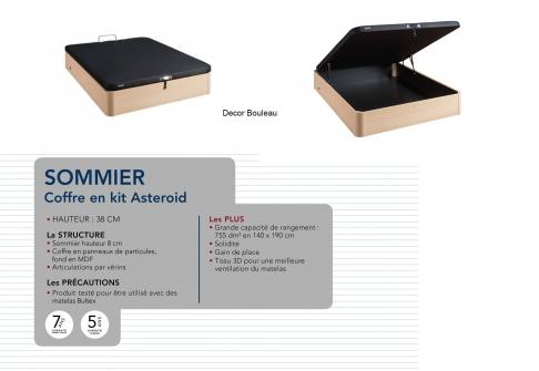 Sommier coffre Bultex COFFRE ASTEROID  140x190 (2 pers)