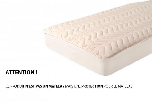 Protège matelas Moshy FLEUR DE COTON PROTECTION  140x190 (2 pers)