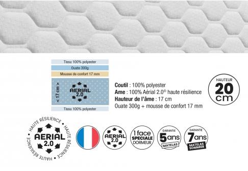 Matelas Mousse Dunlopillo LOVEZ VOUS GEN2  140x190 (2 pers)