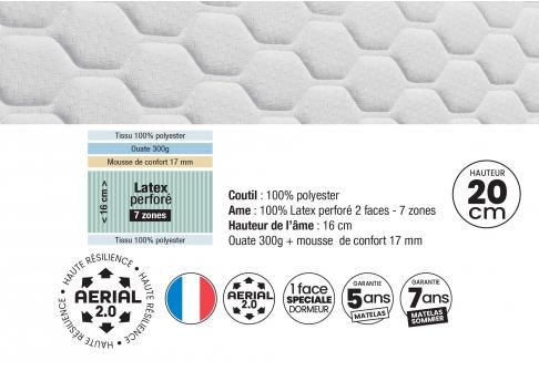 Matelas Latex Dunlopillo CLIMO  140x190 (2 pers)